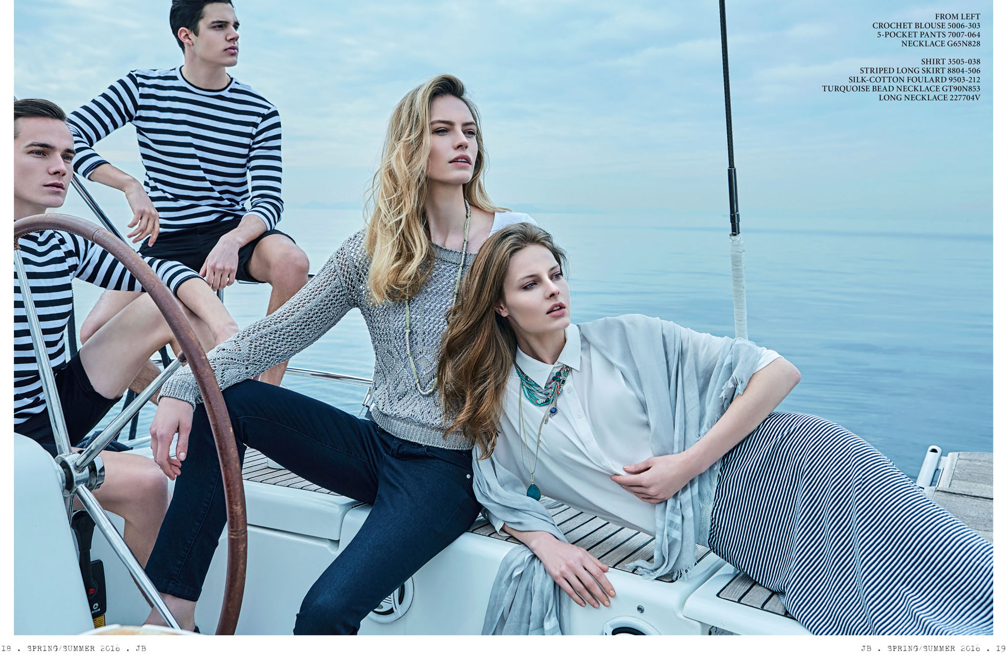 Sail away: Milou, Vita, Nikolay & Christos for Julia Bergovich.