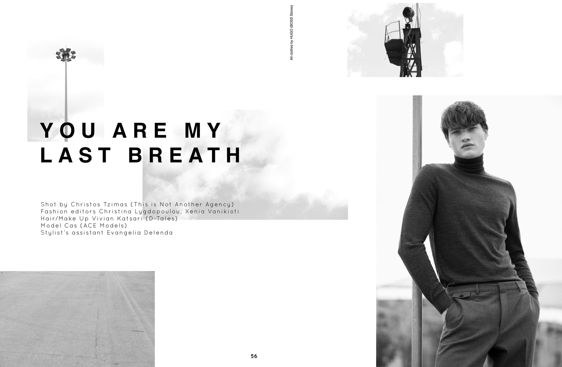 Cas looking elegant till…the last breath for Ozon Mag.
