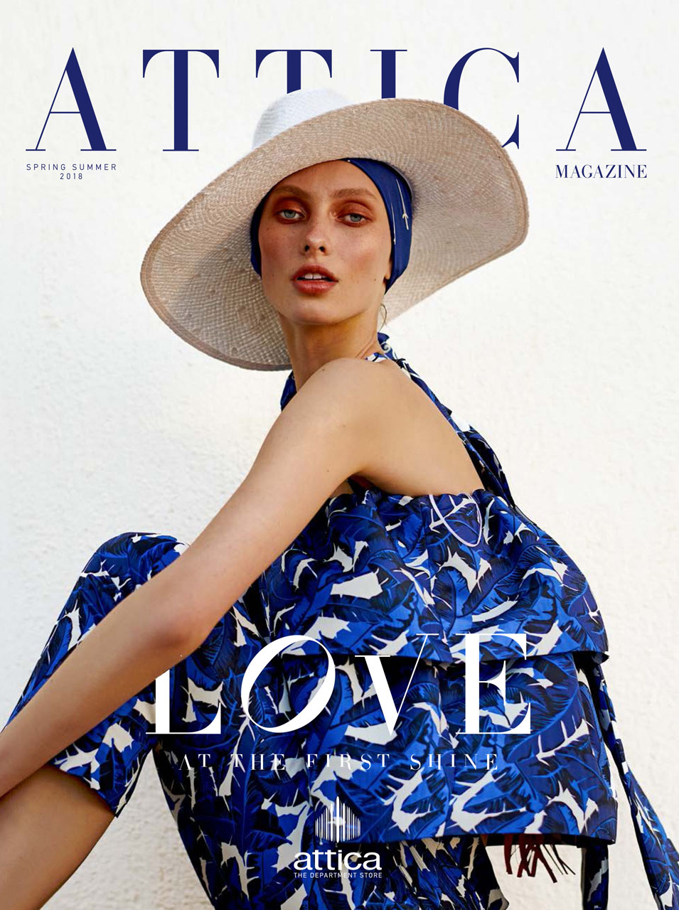 Vika Dunets on the cover of Attica Mag.