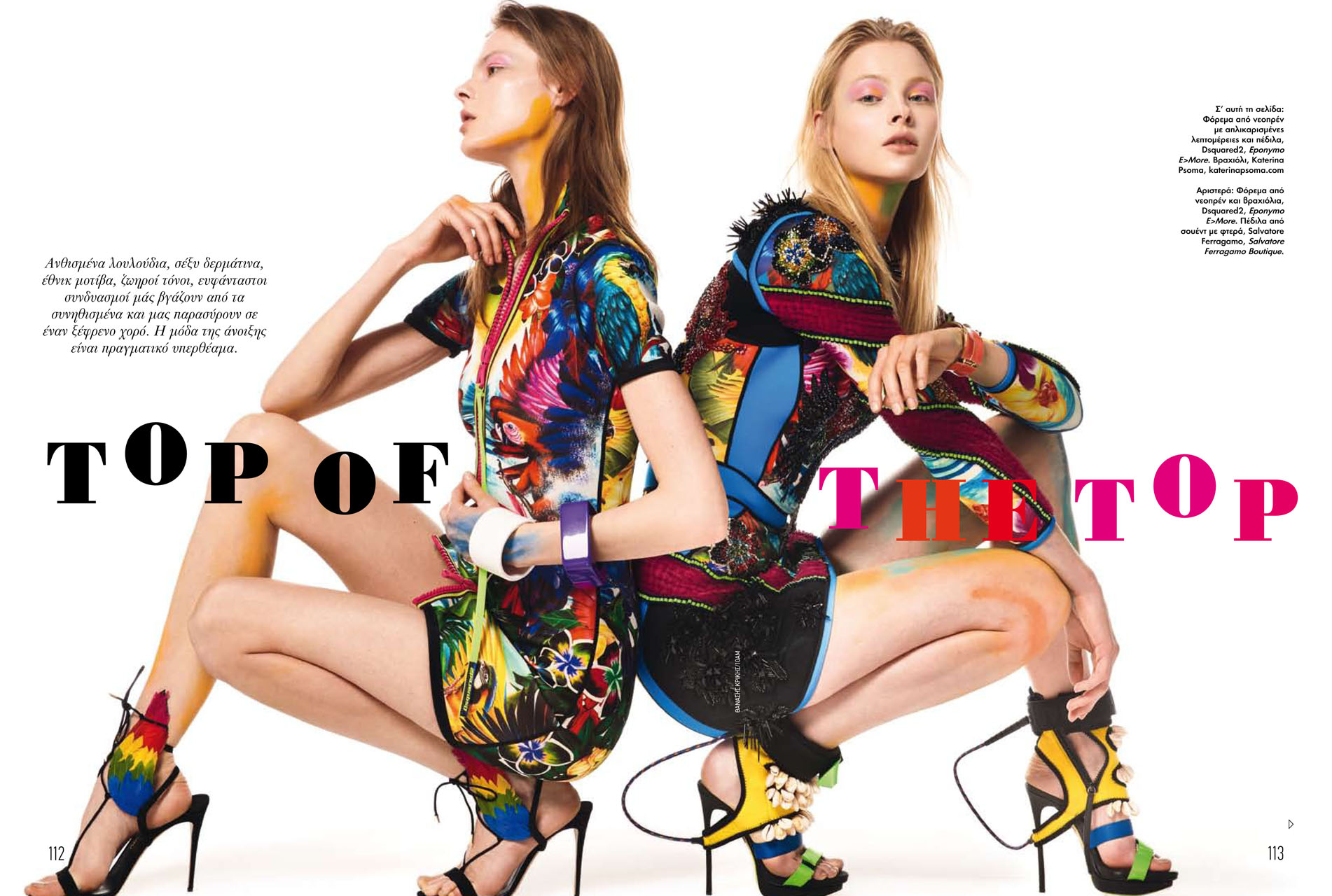 Romy de Vries  & Vita Silkaityte are top of the top for Elle.