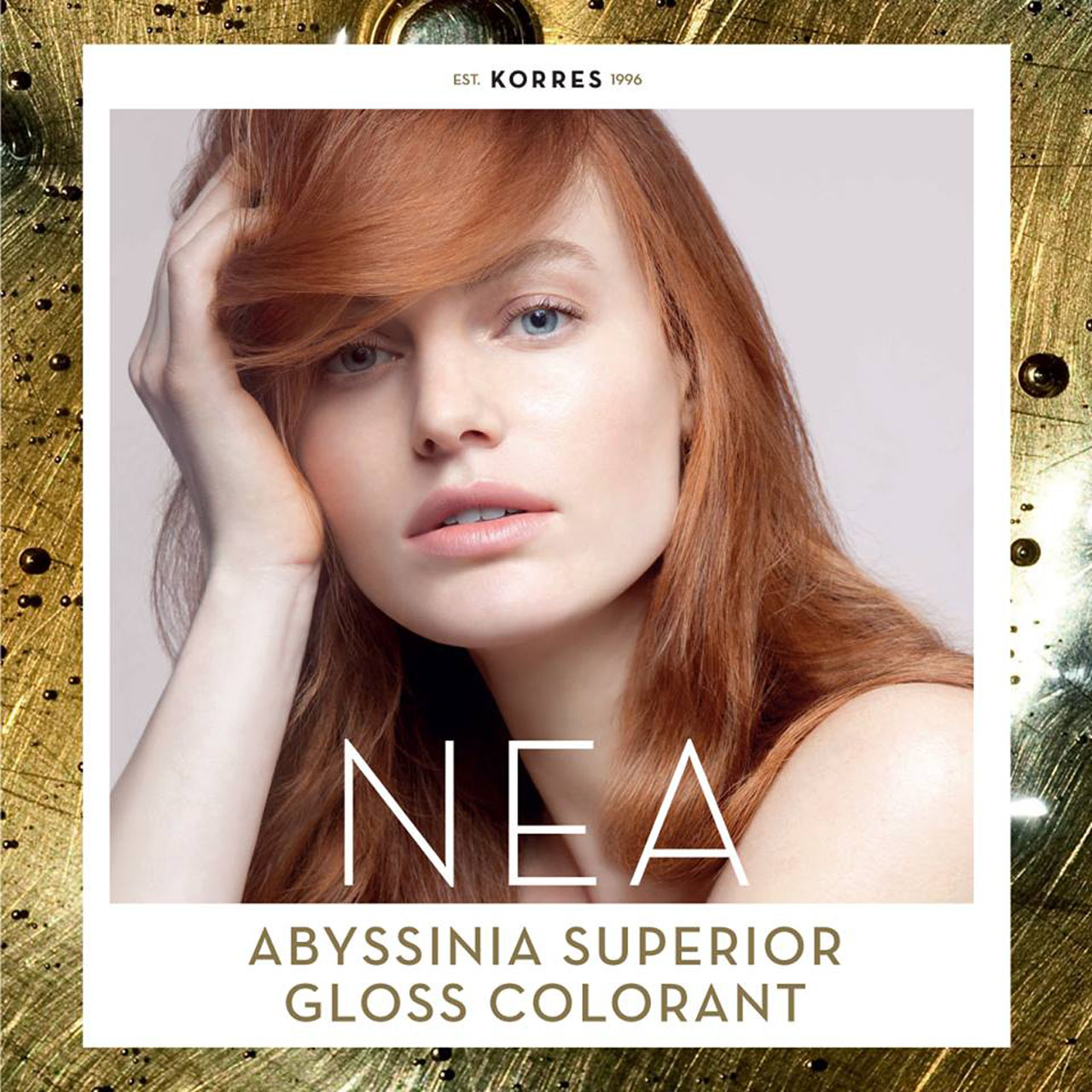 Georgie Wass is the face (and the superial color!) of Korres.