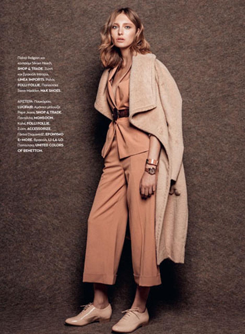 Stunning Jo Kruk welcomes Autumn through Madame Figaro Mag.
