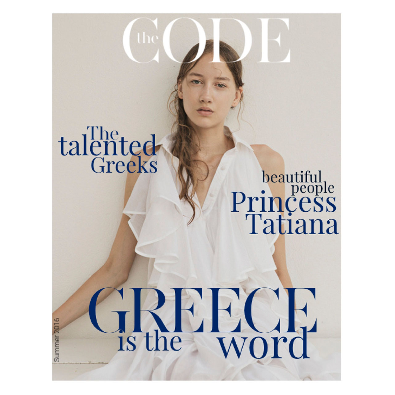 It's all Greek to Tamara for THE CODE Mag.