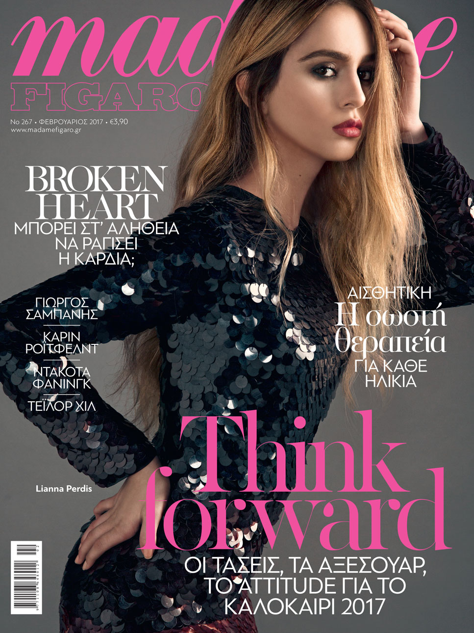 Cover girl :Liana Perdis on the cover of Madame Figaro