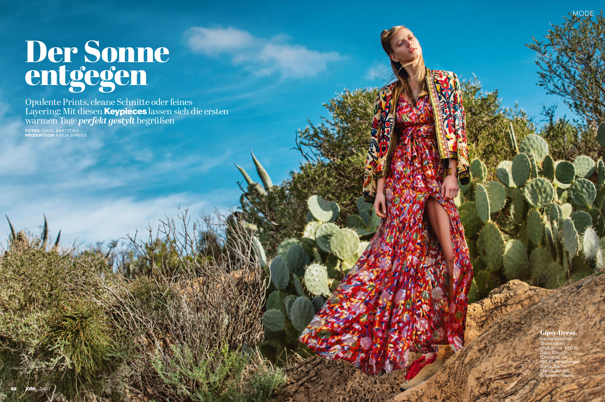Savoring the first spring breeze with Sasha for Jolie mag.