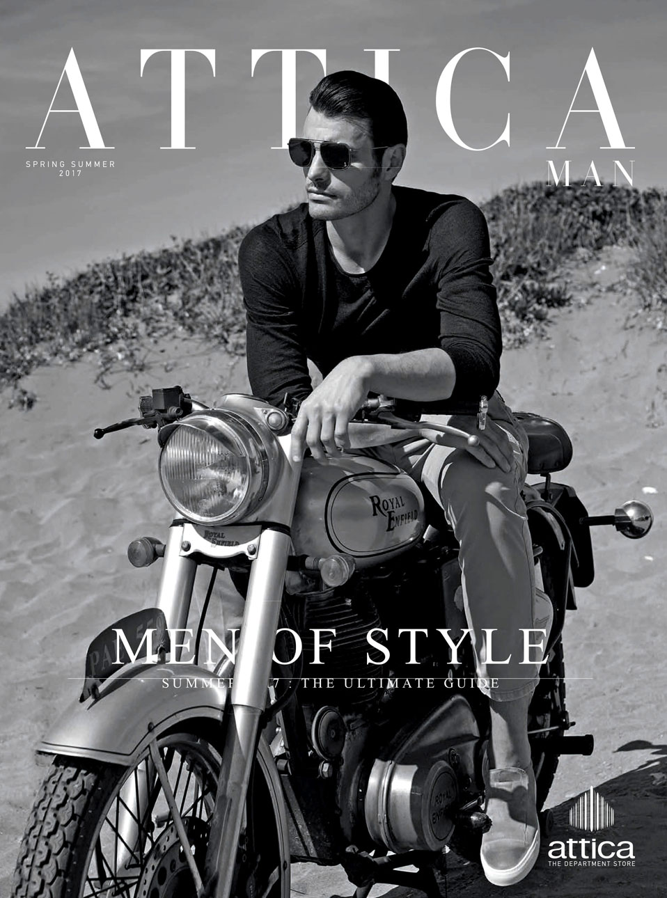 Aristotelis hits the streets on the cover of Attica Mag.