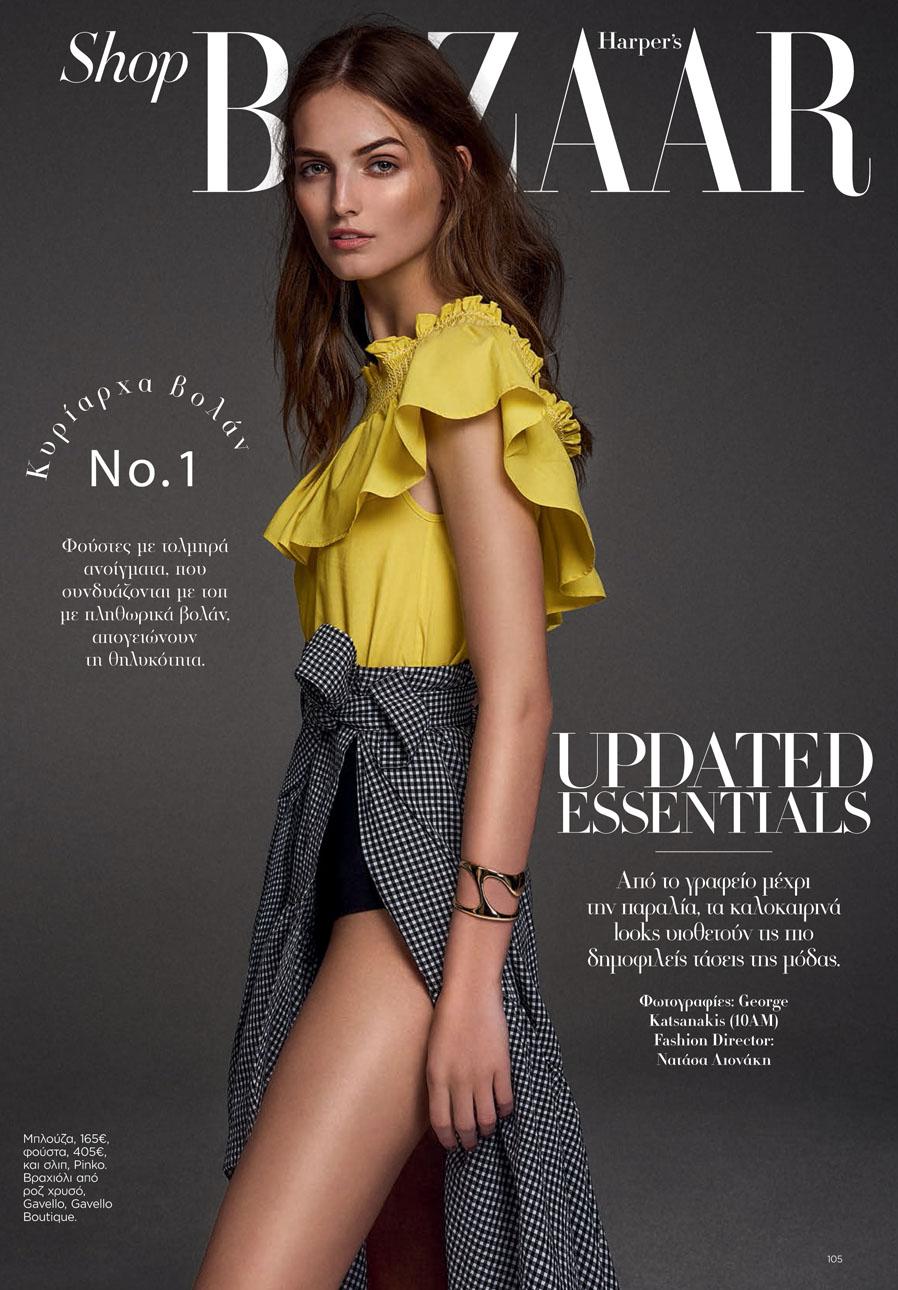 Stunning Agne for Harper's Bazaar