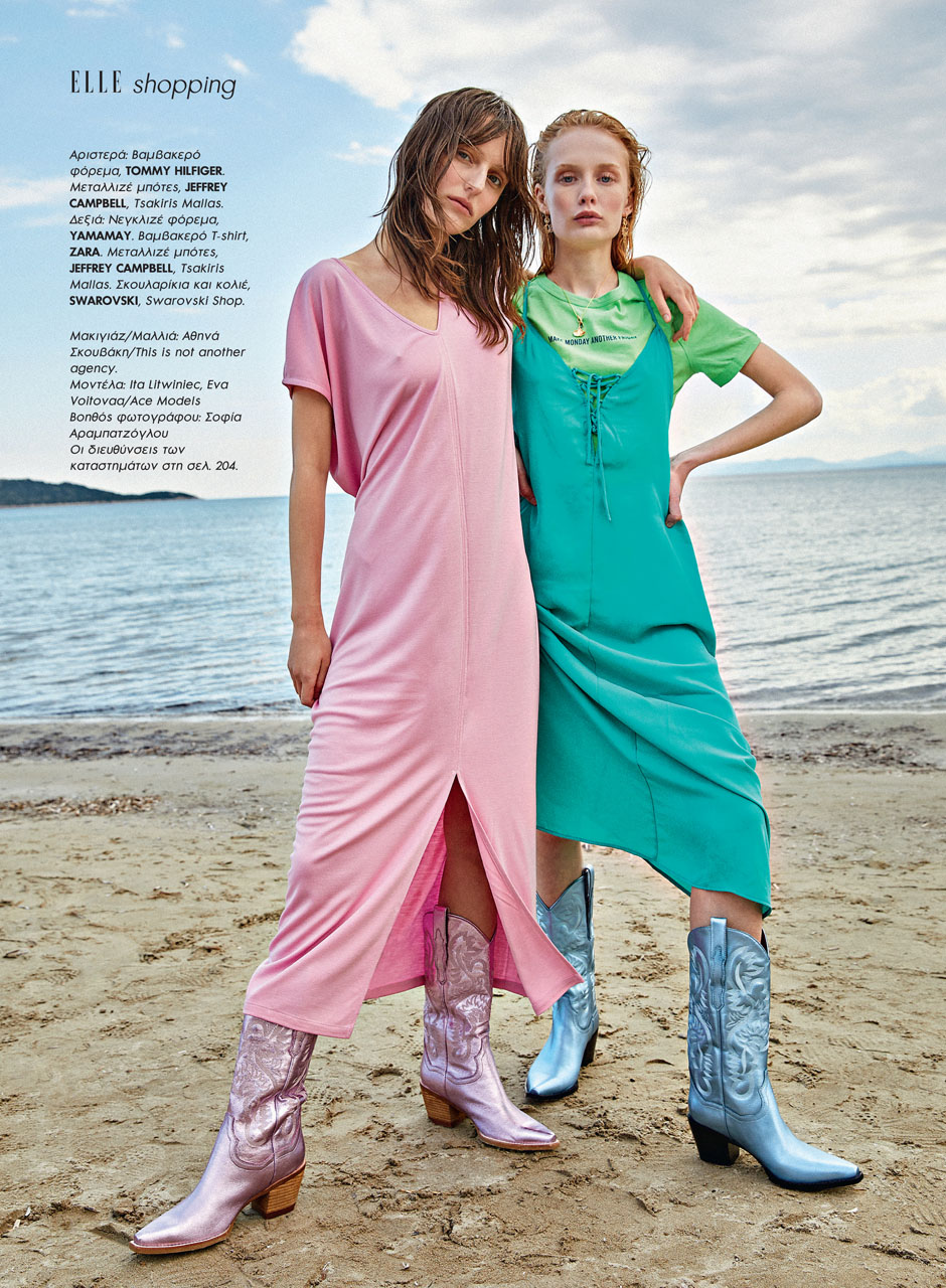 Ita Litwiniec and Eva Voitova for Elle