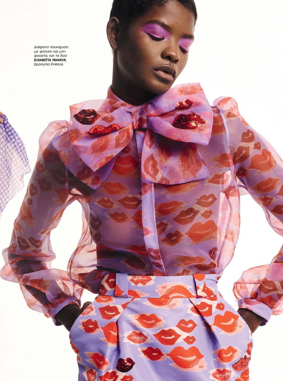 Mouna Fadiga for Elle